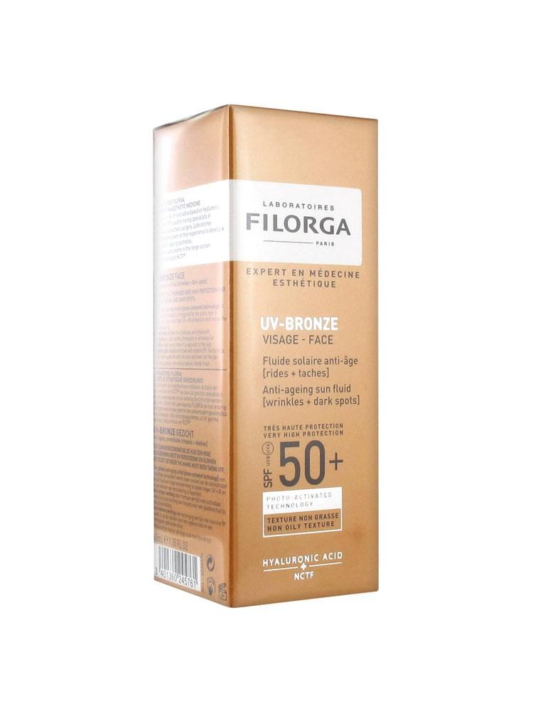 Filorga UV-Bronze Visage Fluide Solaire Anti-Âge SPF50+ 40 ml
